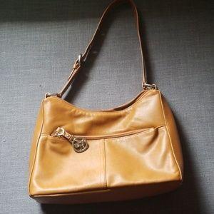 NWOT Kim Rogers tan brown leather tote bag/ purse